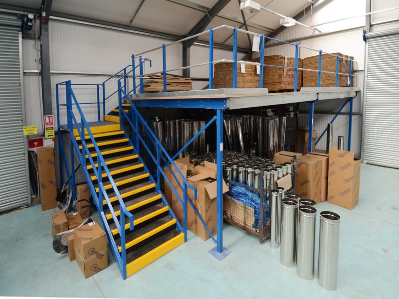 Storage Mezzanine Staircase
