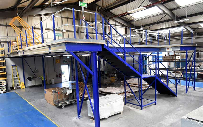 Mezzanine Floors Services : Mezzanine flooring office storage production teepee