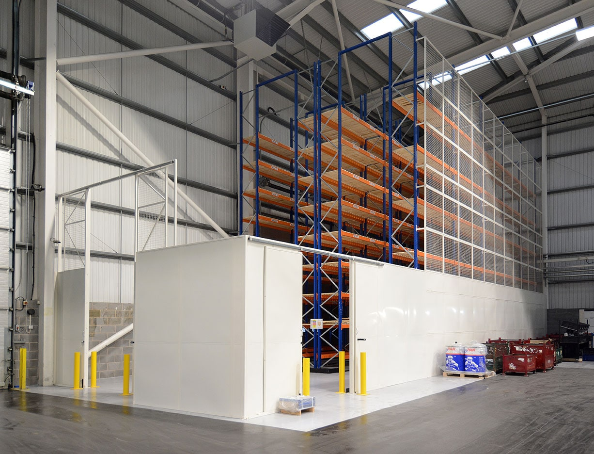 Pallet Racking With Partition