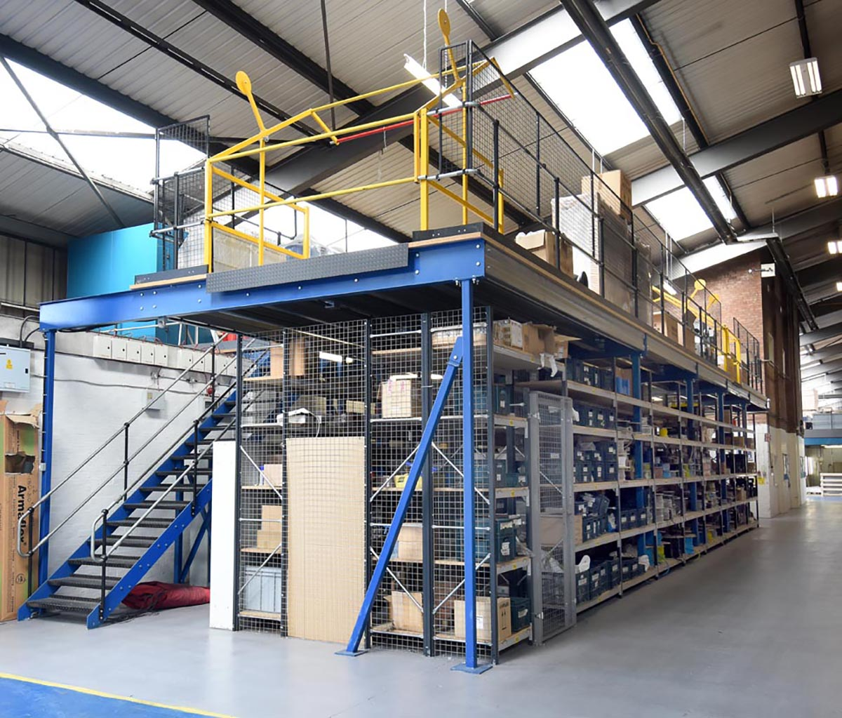 Mezzanine Flooring With Shortspan Shelving