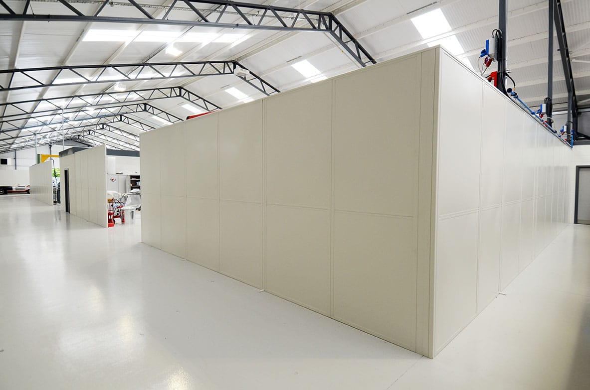 White Industrial Partitions